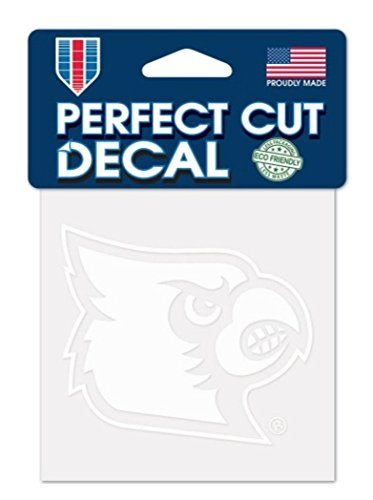 WinCraft NCAA Louisville Cardinals 4x4 Perfect Cut White Decal, One Size, Team Color