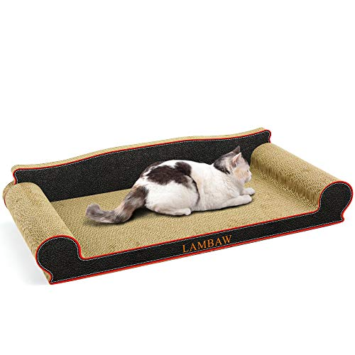 Lambaw Cat Scratcher Couch Large Eco Friendly Corrugated