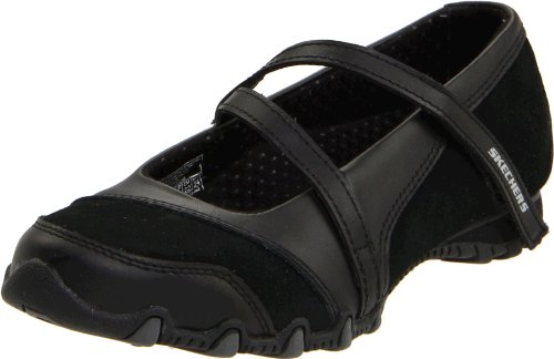 Skechers Women's Bikers-Step-Up Mary Jane Slip-On Flat, B...