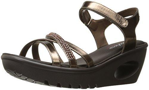 Skechers Womens Piattaforma Concorda Vestito Sandalo Di Bronzo