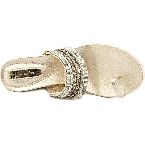 INC International Concepts Limon 2 Donna US 8 Oro Sandalo con la Zeppa
