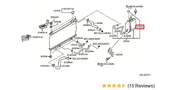 Amazon.com: Infiniti Genuine Radiator Shroud Cooling Reservoir Tank Cap  21712-79900 QX70/FX QX50/EX Q60/G COUPE Q60/G CONVERTIB Q45 M45 M37/56  M35/45 M HYBR G35/37/25 SEDAN G35 FX45/35: AutomotiveAmazon.com