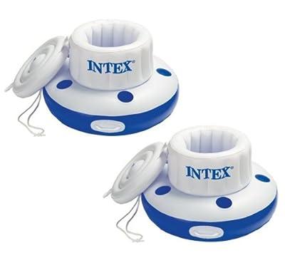 2) INTEX Mega Chill Inflatable Floating Beverage Cooler