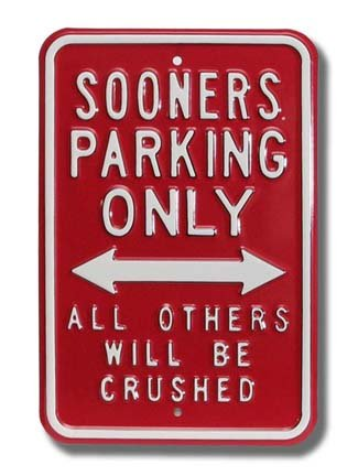 Authentic  Street Signs NCAA, Officially Licensed, REAL, Premium Grade Solid Steel Embossed PARKING SIGN (Full Size 12
