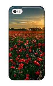 (kGJAJqp1412hophX)durable Protection Case Cover For Iphone 5/5s(red Flower Garden)