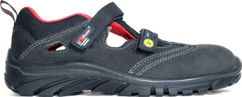 U Power Sicherheits-Sandale ANDREE - S1P ESD SRC - antistatisch - UK30416 - schwarz/rot Schwarz