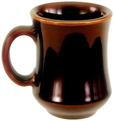 Crestware China Porcelain - Crestware 7-1/2-Ounce Carmel Bell Shaped Mug, 12-Pack