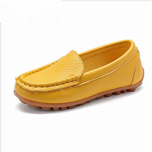 Baqijian Children Boy Girl Baby Shoes Slip-On Loafers Flats Boys Sneakers Toddler/Little Kid/Big Kid Yellow - Bay Geelong