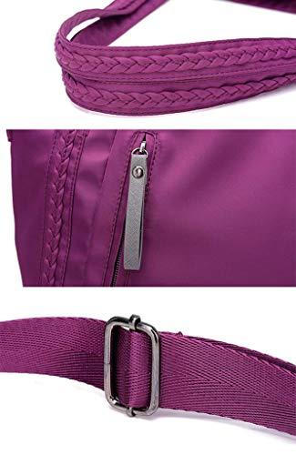 a Nero a Spalla Casual viola Donna pacchetto spalla a borsa in semitrasparente blu Grande tracolla lyx Shopping Borsa scuro mano 40xXwS8q7x