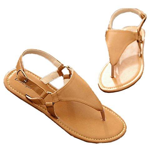 Las nuevas sandalias planas femeninas no - Playa de deslizamiento zapatos de ocio palabra Ding , 36