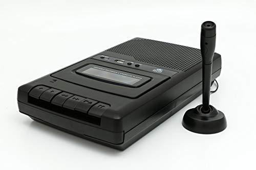 GPO CRS132 Classic Table Top Cassette Recorder USB (Black)