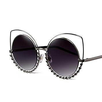 Sunyan Marea Euramerican artesanal gafas polarizadas gafas de diamante estrella redondeada con una caja grande de