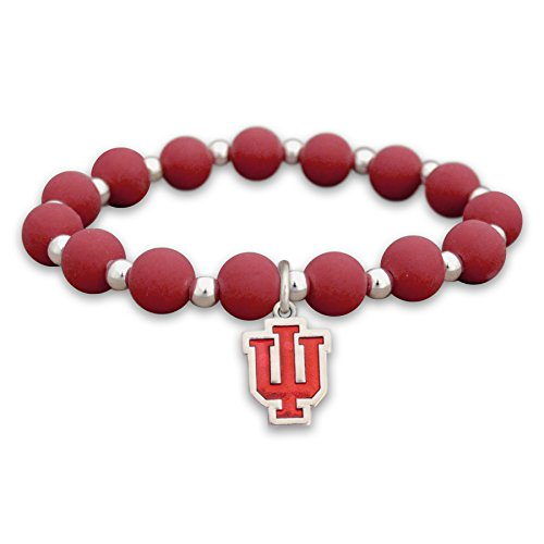 FTH Indiana Hoosiers Silicone Beaded Stretch Bracelet