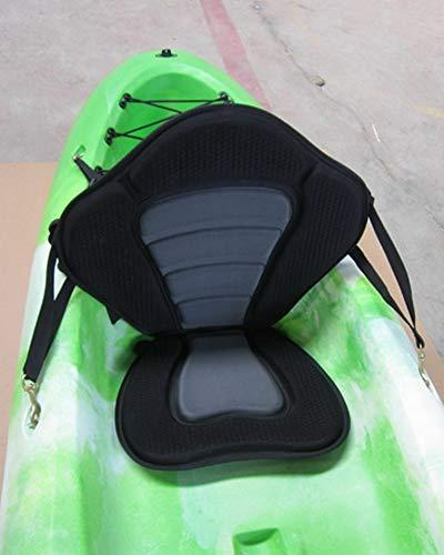 Kaputar New Deluxe Adjustable Padded Kayak Seat + Detachable Back Bag Canoe Backrest EKG | Model CMPNGCHR - ()