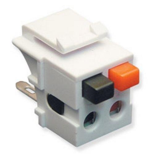 BIN ICC IC107DSCWH Dual Speaker Module Insert for Faceplate/Wall Plate - (Face Module)