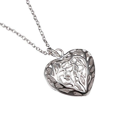 Gifts for Women Silver Plated Necklace Cubic Zirconia Exquisite Pendant Necklace for Girls (Good Ideas For Couples Costumes)