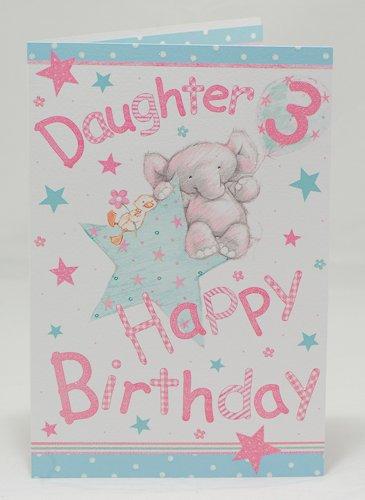 Happy Birthday Daughter 3rd Birthday Card Amazon Kitchen