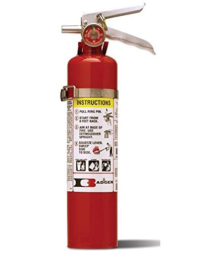 Badger 22430B Standard 2 1/2 lb ABC Fire Extinguisher w/ ...