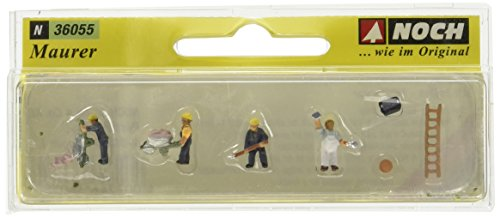 Noch 36055 Bricklayers W/Accessories N Scale  Figures ()