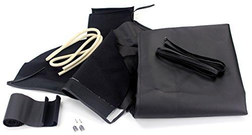 TMI 22-7115-40 Mustang Black Pinpoint Vinyl Convertible Top (36oz.) ()