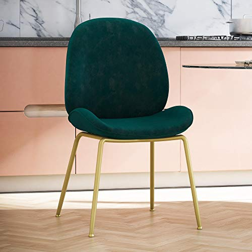 CosmoLiving Astor Upholstered Dining Chair, Green