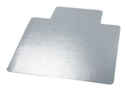 Universal UNV56807 53 Length 45 Width Clear Color Vinyl Cleated Chair Mat for Low and Medium Pile Carpet with Lip