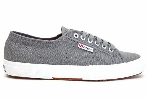ec7f88ae7001d Superga - Zapatos de cordones de lona para hombre gris gris