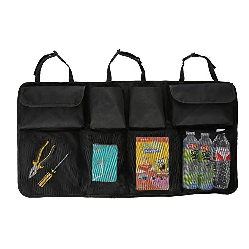 g Mesh Organizer, Back of Car Container with Pockets Black ()