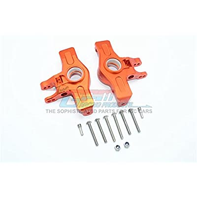 GPM Traxxas Unlimited Desert Racer 4X4 (#85076-4) Upgrade Parts Aluminum Front Knuckle Arms - 1Pr Set Orange: Toys & Games