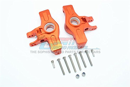 GPM Traxxas Unlimited Desert Racer 4X4 (#85076-4) Upgrade Parts Aluminum Front Knuckle Arms - 1Pr Set Orange