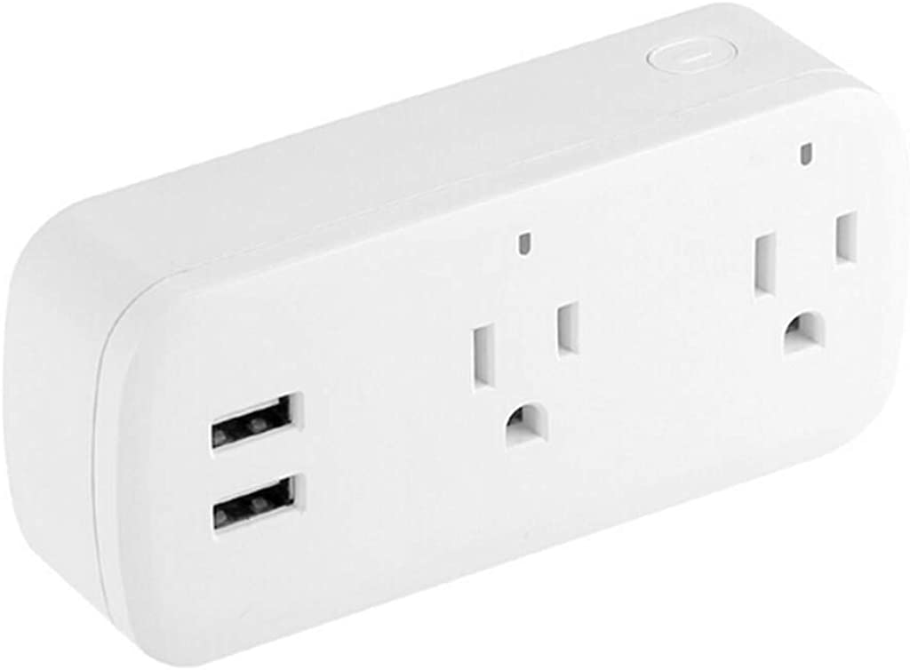 Lnicesky,Smart WiFi Power Socket Plug Switch for Amazon Alexa/Google Home App Control US White