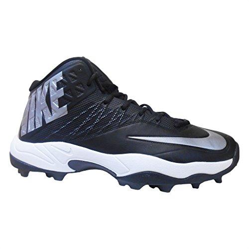 Nike Zoom Code Elite 3/4 Shark Football Cleats (16, Black/Metallic Silver)