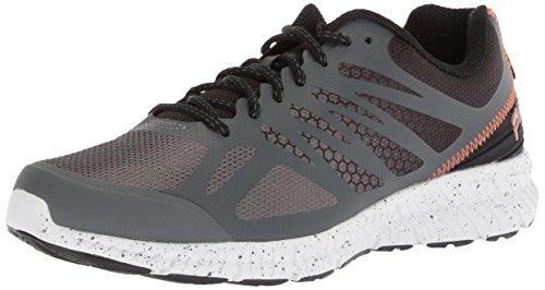 FILA Memory Speedstride Trail - Zapatillas de Running para Hombre, Dark Shadow/Black/Vibrant Orange, 11.5 M US