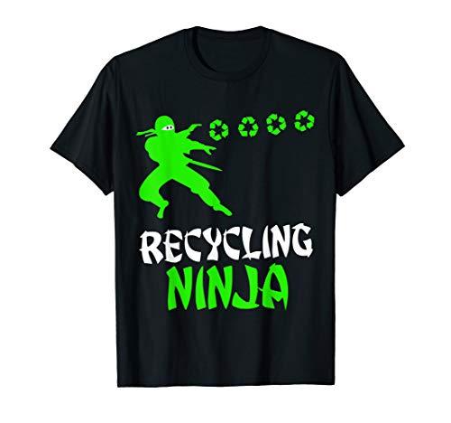Recycling Ninja Earth Day 2019 Kids Boys Recycle Shirt Gift