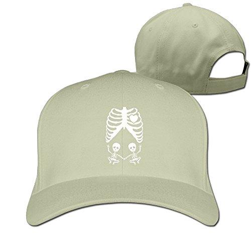 Skull Maternity Skeleton Twin Unisex Adjustable Football Hat & Cap (Twin Peaks Costumes)