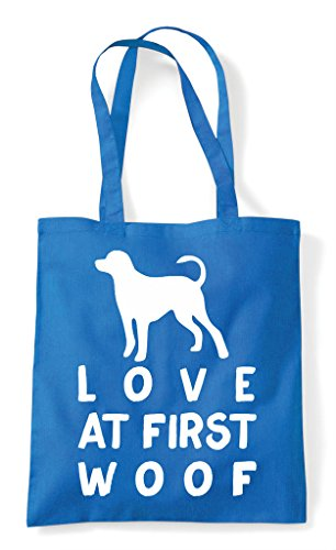 Funny Pets Tote Love Person Woof Bag At Lover Shopper Animal First Dog Sapphire nxfTOqn