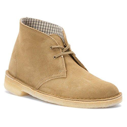 CLARKS Women's Desert Boot Chukka Boot, Oakwood Suede, 9 M (Ladies Brown Suede Boots)