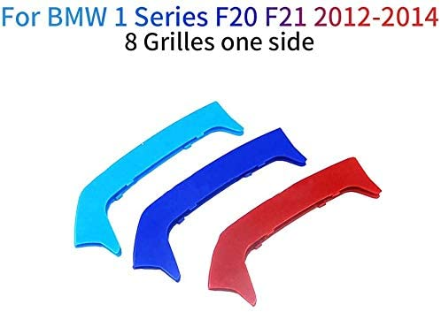 Froggen For BMW 1 Series F20 F21 116i 118i 125i M135i 2012-2014 M Color Front Grille Grill Cover Insert Trim Clips 3Pcs 8 Grilles