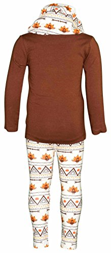 Unique Baby Girls 3 Piece Thanksgiving Tribal Turkey Legging Set (5) by Unique Baby (Image #3)