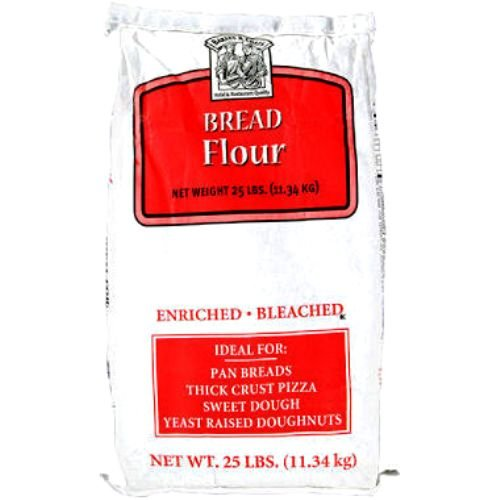 Bakers and Chefs Flour, Bread and Pizza, 25 Pound (Pack of 12)