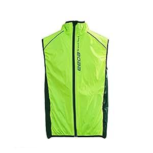 Weat Biking Women Windproof Fleece Thermal Reflective Breathable Waterproof Bike Bicycle Vest Cycling Cycle Sleeveless Wind Coat Windcoat Jacket Vest-Green