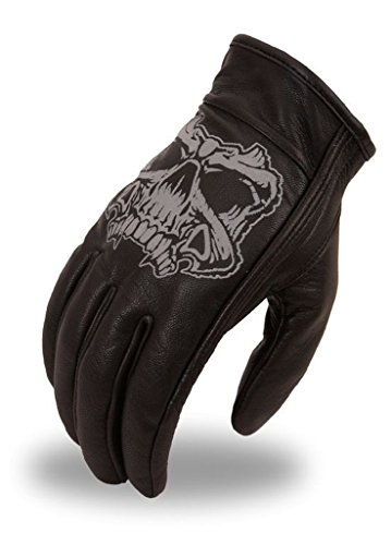 (First Manufacturing Mens Griller Leather Motorcycle Gloves (Black,X-Large),1 Pack)