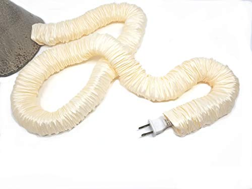 Cream Lamp Cord Cover Faux Silk 9ft long ()