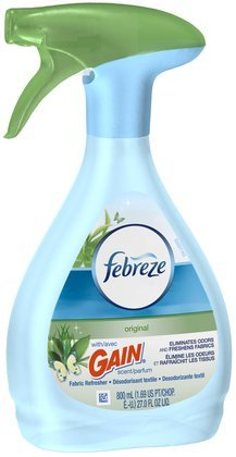 Febreze Fabric Refresher & Odor Eliminator, Gain Original 27 oz (Pack of 12) by Febreze