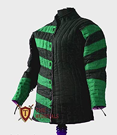 Details about  /Medieval Gambeson Thick padded Jacket COSTUMES DRESS coat Armor