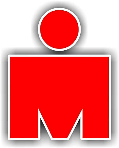Ironman Race M Logo'd Full Color Window Decal -