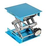 Homyl Laboratory Stand Table Scissor Lift Laboratory Alumina Lab Jack 100x100mm Experiment Tool