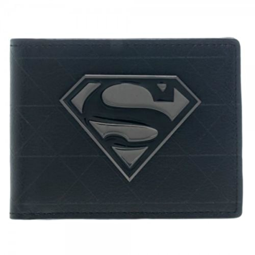 DC Comics Superman Metal Logo Faux Leather Bi - Superman Wallet For Men