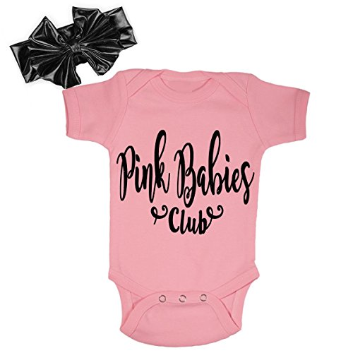 G&G - Cute Baby Girl Grease Outfits With Matching Headbands (0-3 Months) (Grease 2 Pink Ladies)