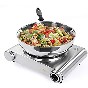 SUNAVO HP-30 Electric Hot Plate for Cooking, Single Hotplate Burner 1500W, Portable hob Cooktop,Variable Temperature Controllers,Table Top Hot Plate ...